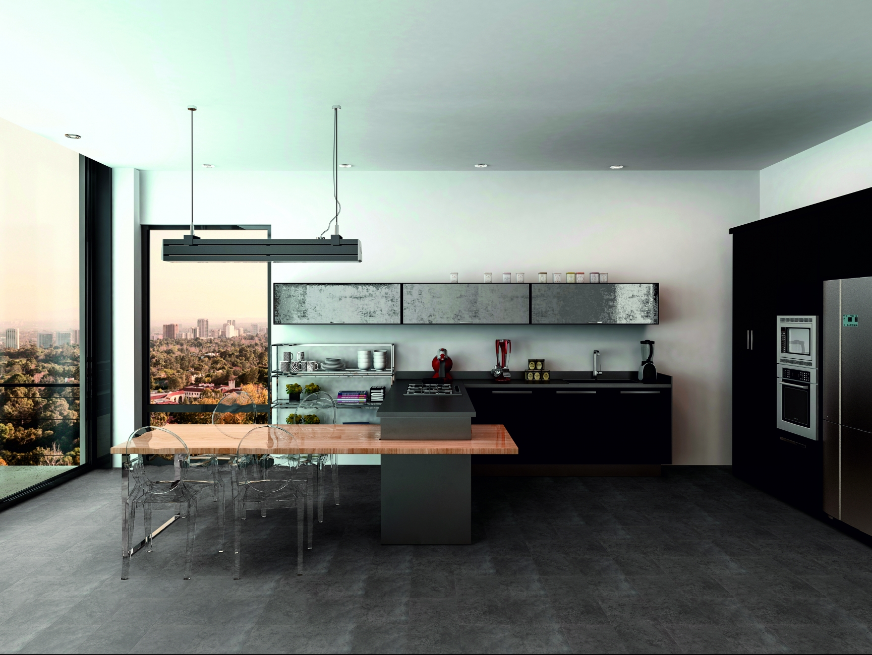 Raumbild - Designboden - Basalt