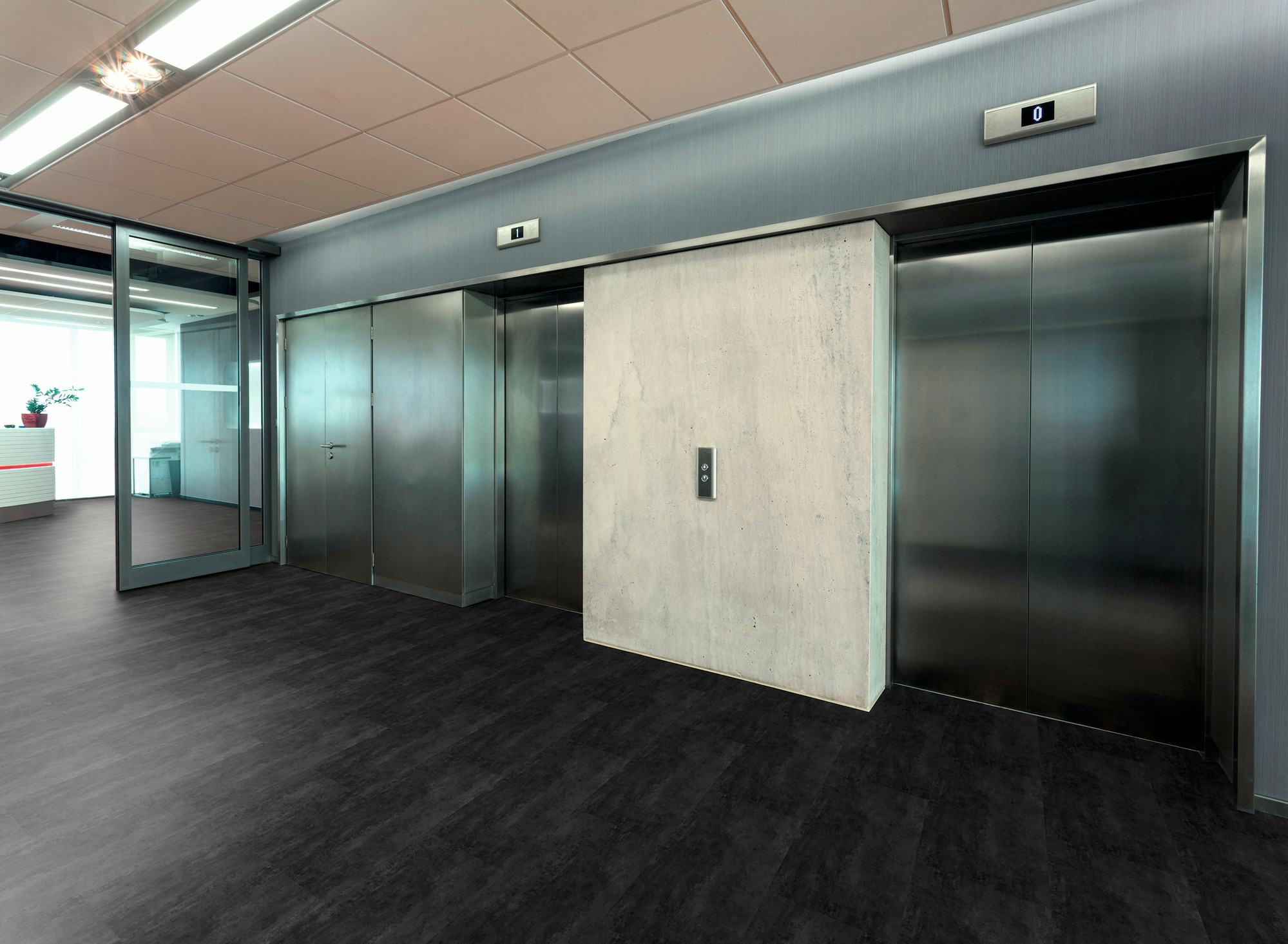 Raumbild - Designboden - Contract 0,55 Fliese kleben