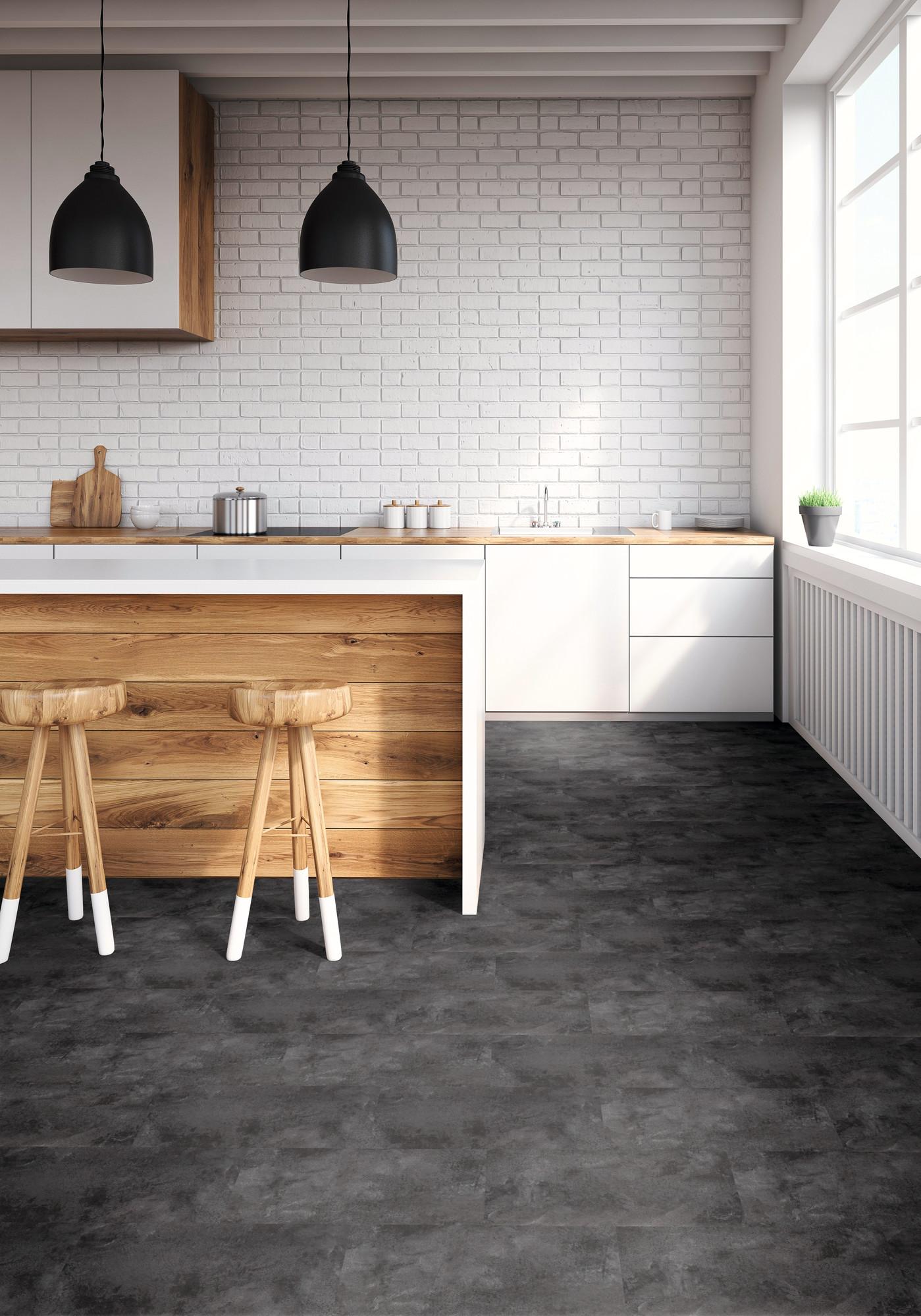Raumbild - Designboden - Home 0,3 Fliese kleben 2