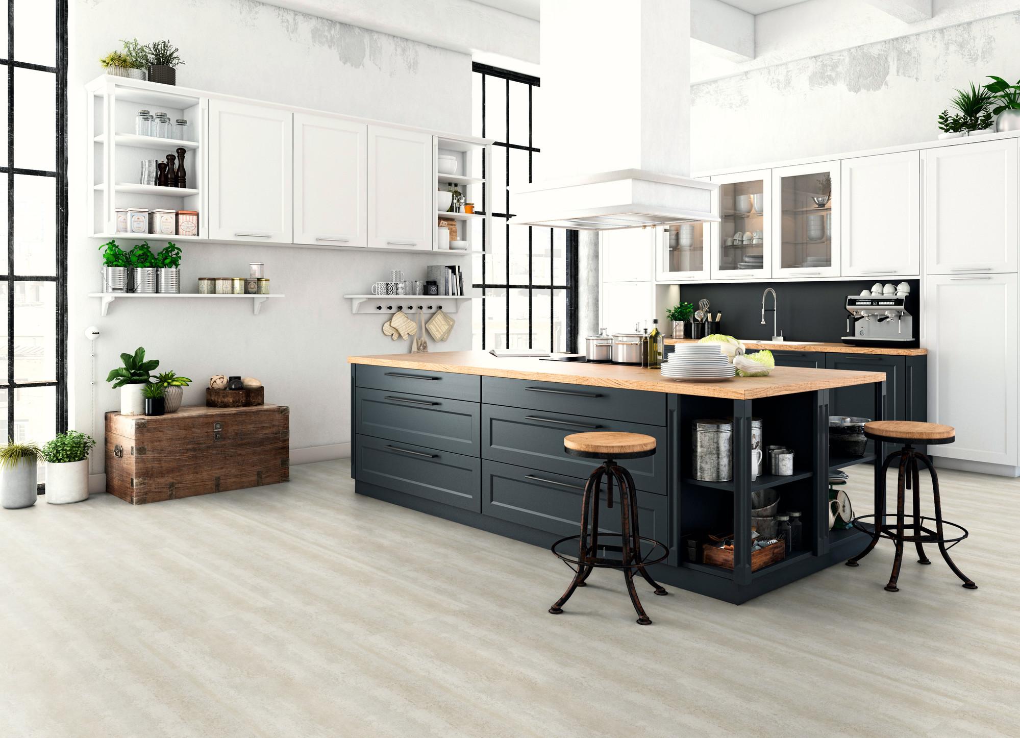 Raumbild - Designboden - Home 0,3 Fliese kleben 1